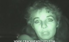 Crazy crackhead with scary pussy talks about her life and