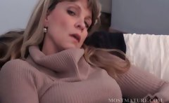 Blonde mature masturbates her hot cunt