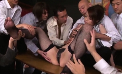 Maki Hojo tries more than one cock in serious porn scenes