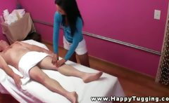 He needs some more relaxation during his massage with her