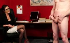 CFNM office voyeur enjoys wanking session