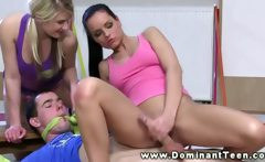 Hot dominating teen riding coach