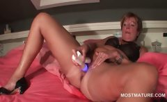 Orgasm craving hot mature fucks herself with a vibrator