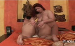 Lesbian sixtynine with BBW naked horny babes