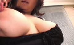 Busty japanese slut gets pussy jizzed