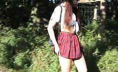 Bizarre amateur extreme outdoor panties pissing fetish