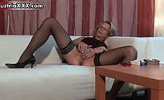 Dirty mature wife in sexy stockings