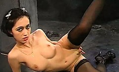gothic romanian stripper gets naked