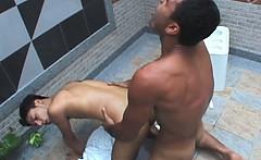 Hot Latino Poolside Fuck