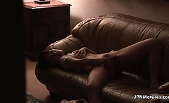 Sexy asian slut gets horny fingering