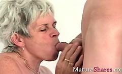 Granny fingering her old wet snatch