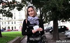 Eurobabe Blanka public sex and facial