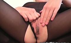 Cute blonde MILF stripping before she