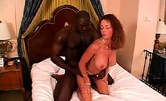 Interracial mature amateur housewife cuckolding her filming