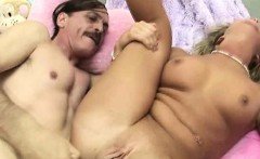 Two Dirty Old Men Pounding Away On Pretty Blonde Teen