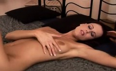 Sexy Mom masturbates and does fist with herself in bed