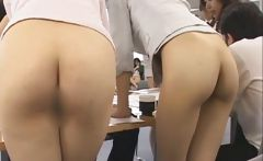 Pretty Asian secretaries are working