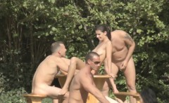 Outdoor sex game orgy