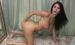 Roxy fingering her pussy in the mirror
