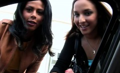 These two friends pick two strange girls in the street and