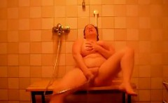 Thick Amateur Woman Taking A Shower