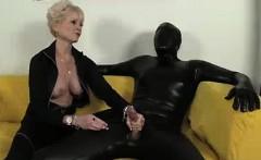 Dominant Granny In Black