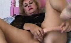 Horny Grandma With A Very Long Dildo