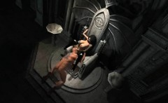 Hot 3D cartoon vampire babe gets licked and fucked