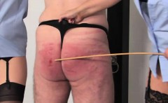 Police doms caning and chastising their sub