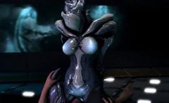 3D Creepy Alien Girl Rides Human Dick!