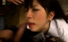 Asian Coed Throated by Pervs in a Factory!