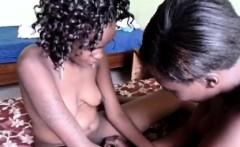 Hot ass African chick eats a hot black friends pussy