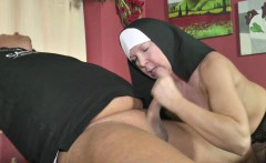 German MILF Nun get fucked by the Pastor in Church