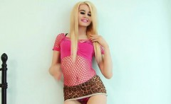 Blonde sensual poses and striptease