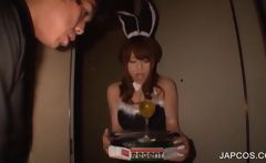 Japanese bunny at sex party