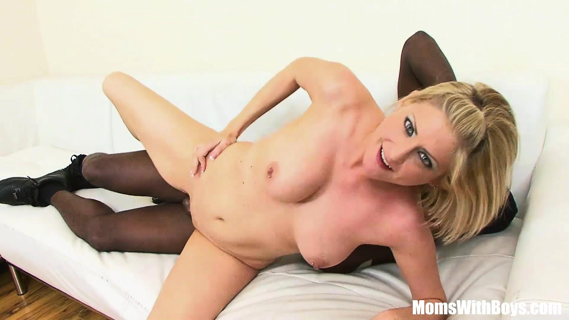 Blonde MILF Lya Pink With Pierce Nipples Interracial Fuck