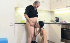 Nasty old guy prefers to have sex with young pretty girls