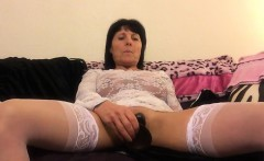 Milf in bright lace-up the vagina and butt HD