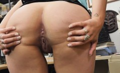 Blonde Ivy Rose Spreading Lower Lips In A Pawn Shop