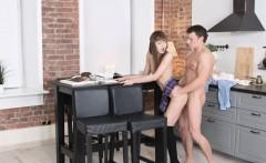 Sexy schoolgirl gets her wet cunt devoured and fucked by her boyfriend
