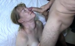 Slutty blonde enjoys cum fill on mouth and her experience
