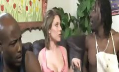 Hot Big Titted Cougar Sucks Two BBC