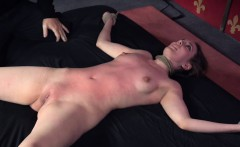 Bonded slut subdued and punished by couple