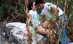 Couple caught fucking within the forest