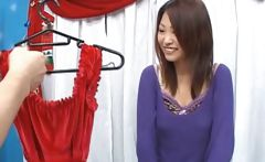 Asian dressing a sexy Santa suit