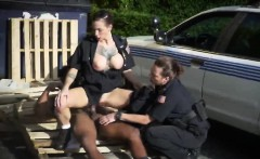 Officers Sucking Fucking Big Black Dong Threesome