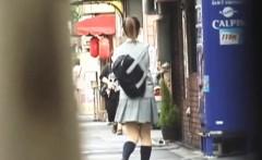 Japanese teen pees n rubs