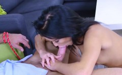 Pretty Teen Megan Rain Blows And Rides Dads Boss