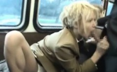 Flexi Schoolgirl Sucks Stranger in a Bus!
