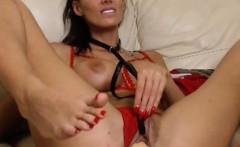Horny camgirl masturbate dp toys and orgasm